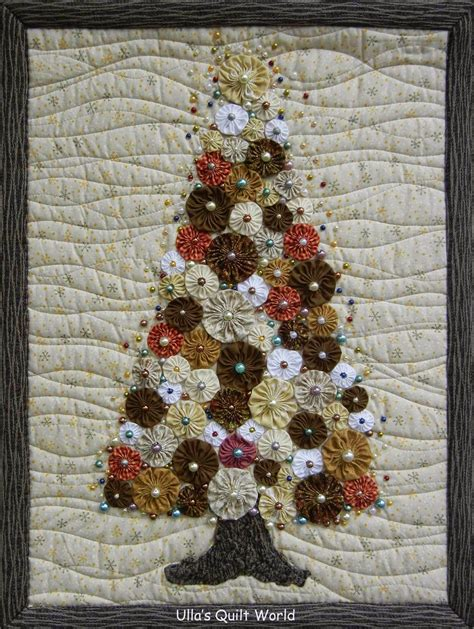 christmas tree pattern patchwork ulla s quilt world christmas tree quilt yoyo quilting