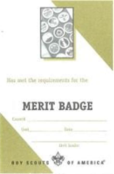 merit badge blue card template certificate templates boy scouts and scouts on