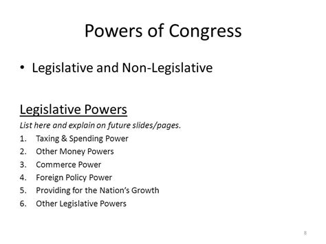 Powers Of The Legislative Branch Essay by Ch 6 Government Sections 3 Ppt