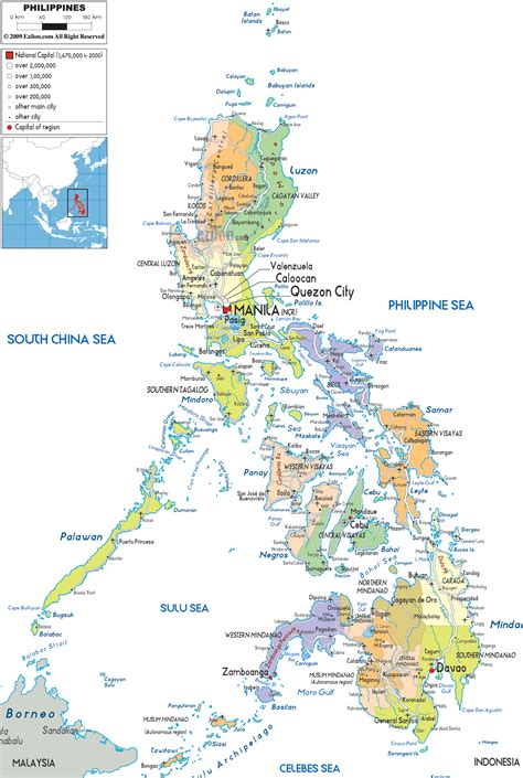 printable map philippines detailed political map of philippines ezilon maps