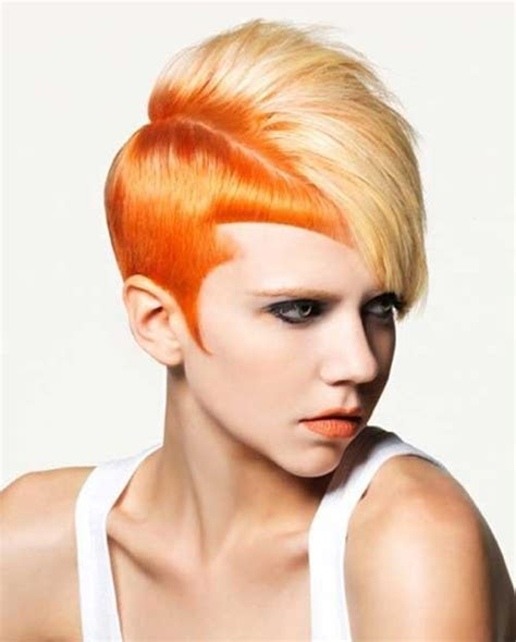 short hair styles with two tones of color 15 two tone hair color ideas for short hair crazyforus