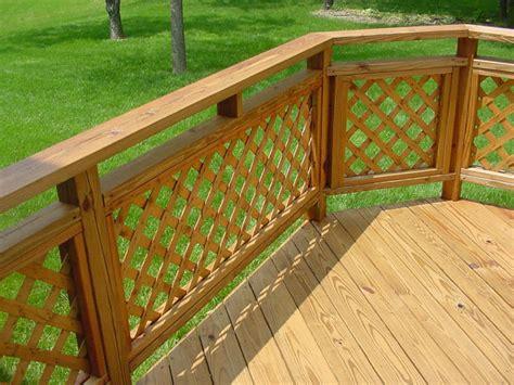 Patio Deck Railing Designs Patio Ideas On Lattice Deck Railings And Concrete Patios