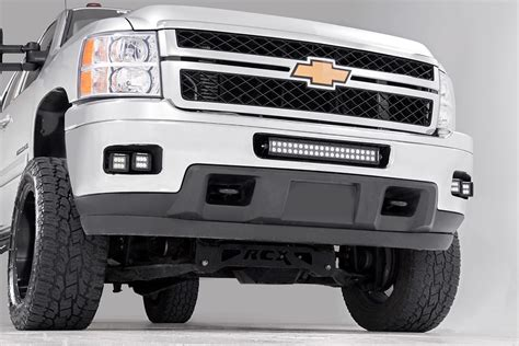 light kit 2 inch square cree led fog light kit for 11 14 chevrolet