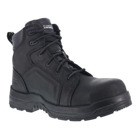 rockport boots mens waterproof rockport work rk6635 mens more energy black 6 quot waterproof
