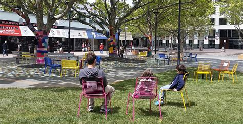 backyard experiments garema place installation observes how people interact with dynamic public space
