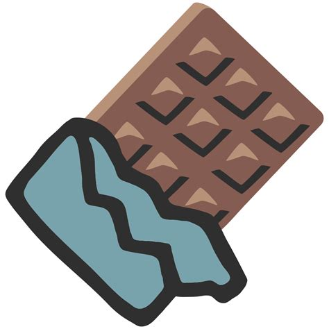 chocolate emoji file emoji u1f36b svg wikimedia commons