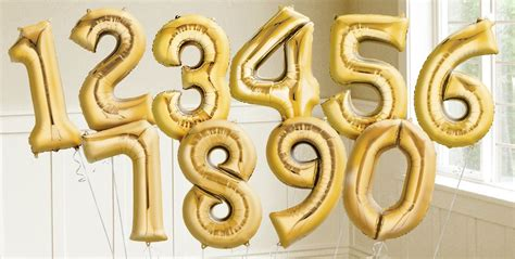 Number Balloon gold number balloons city canada