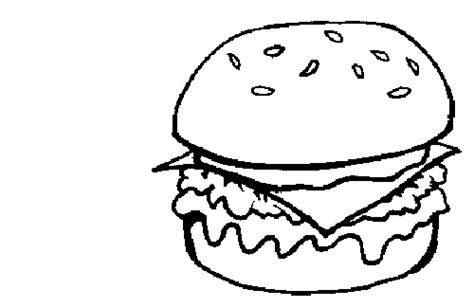coloring pages for kids burger coloring pages