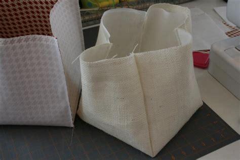 diy fabric storage box with a handle shelterness burlap storage bin diy hopeful homemaker