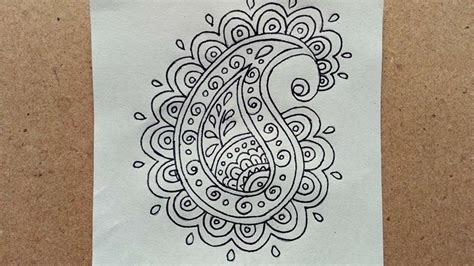 paisley doodle ideas how to draw a simple doodle paisley diy crafts tutorial