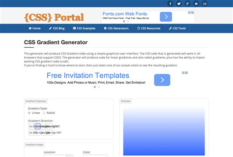 gradient background generator 10 free css gradient generators inspirationfeed