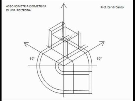 proiezione ortogonale di una sedia assonometria isometrica di una poltrona
