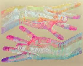 prismatic sketches hands faces lui ferreyra colossal