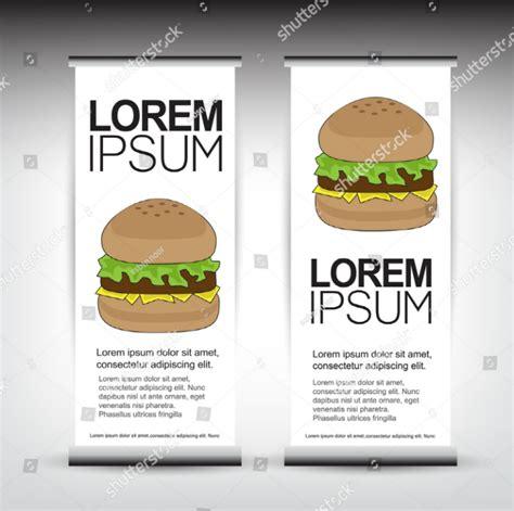 design banner burger 15 best restaurant roll up banner template free