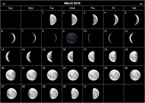 printable calendar 2016 with moon phases monthly stargazing calendar for march 2016 cosmobc com