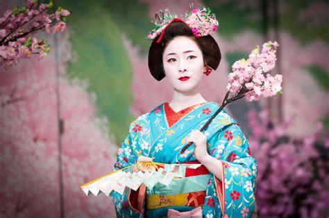 De Kimono Flower wallpaper japan cherry blossom pink kimono happiness clothing kyoto geisha