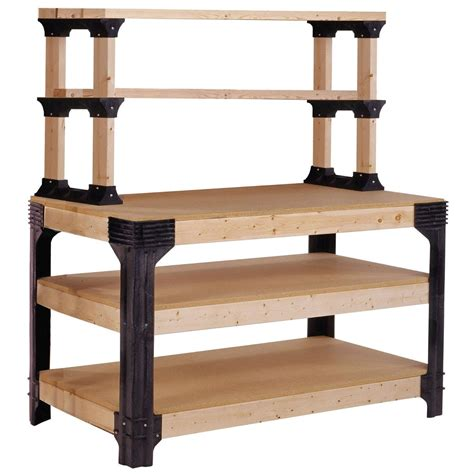 Make Your Own Floor Plans Workbench Shelving Unit Potting Bench Storage System 2x4