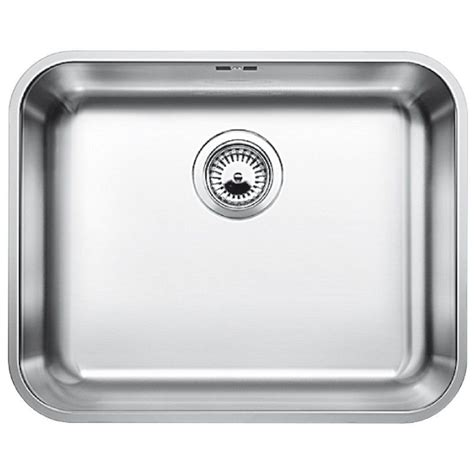 Blanco Stainless Steel Kitchen Sinks Blanco Supra 500 U Undermount Stainless Steel Kitchen Sink