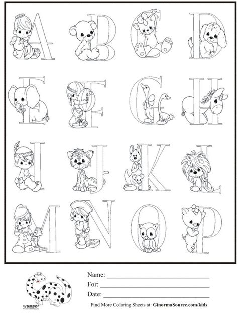 Kids Coloring Page Precious Moments Alphabet Part 1 Precious Moments Alphabet Coloring Pages