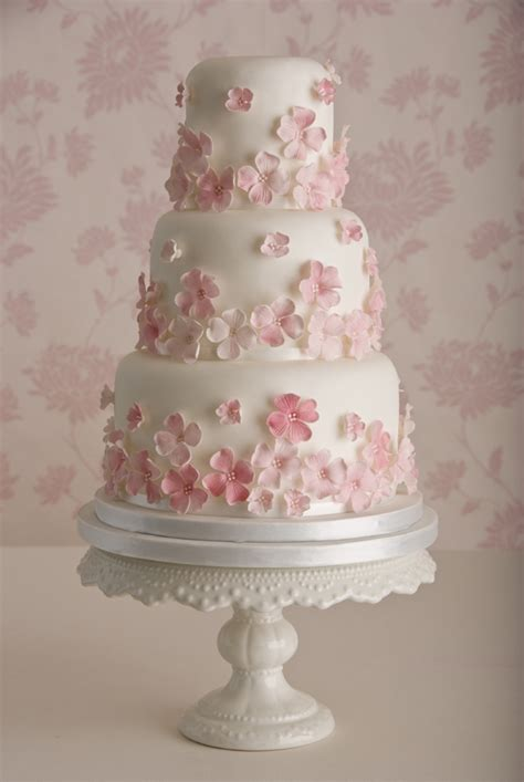 Pink Flower Wedding Cake by Let Creativity Bloom 5 Beautiful Cherry Blossom Wedding Cakes