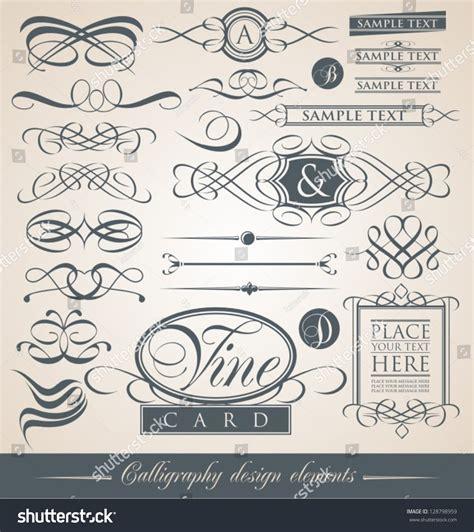 vector wedding design elements and calligraphic page decoration set vintage calligraphic design elements vector stock