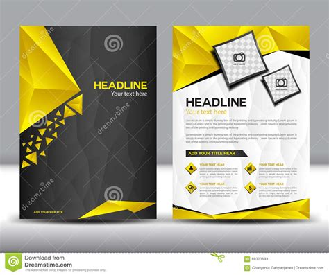 brochure template yellow black and yellow business brochure flyer design layout