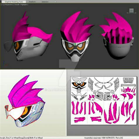 Kamen Rider Helmet Papercraft - kamen rider ex aid helmet pepakura by maximum28 on deviantart