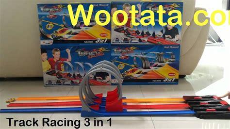Track Mobil Racing Trek Racinglintasan Track Balap Hotwheels 3 Jalur permainan mobil balap 3 orang track racing