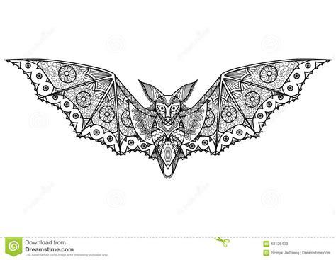 doodle zucca di bat zentangle stock vector image 68126403