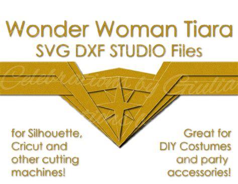 printable wonder woman crown wonder woman svg dxf studio files for diy tiara crown for