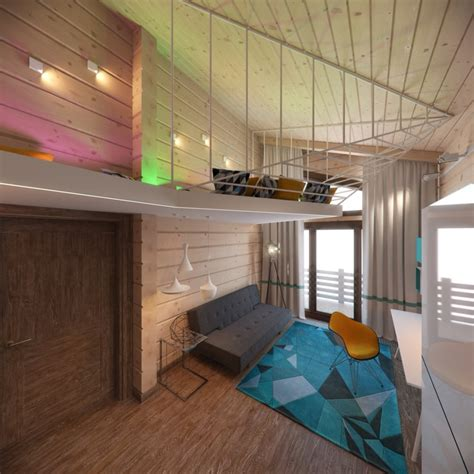 creative bunk beds 3 creative top floor rooms with wood accents