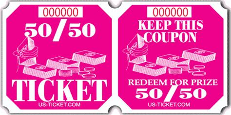 50 50 ticket template 50 50 raffle ticket roll