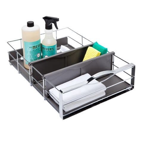simplehuman 14 in pull out cabinet organizer simplehuman 14 quot pull out cabinet organizer the container