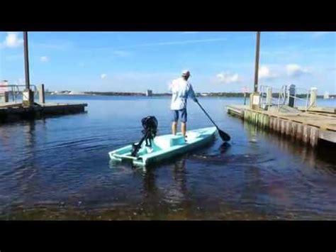 skiff paddle board paddling solo skiff youtube