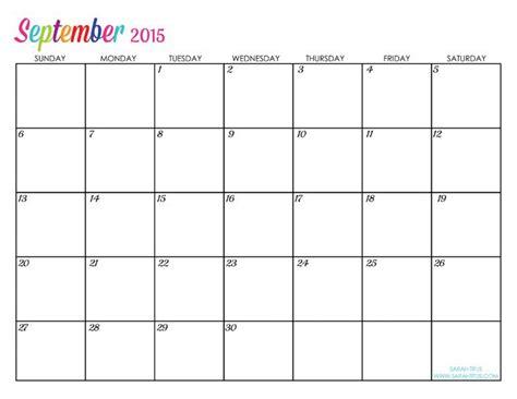 printable monthly calendar for september 2015 custom editable free printable 2015 calendars sarah