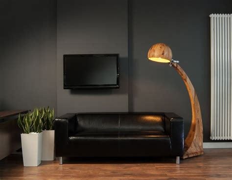 floor lights for living room black accents wall paint of modern living room idea with