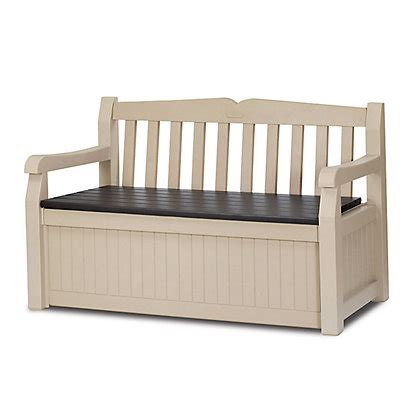 keter bench keter eden bench box cream 265l