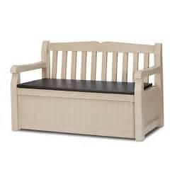 bench homebase keter eden bench box cream 265l