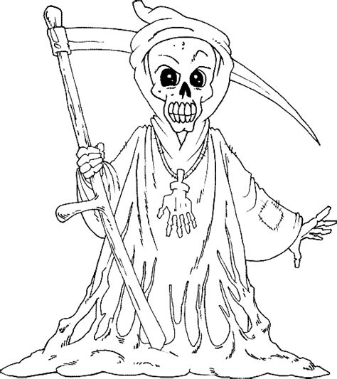 detailed coloring pages grim reaper coloring pages
