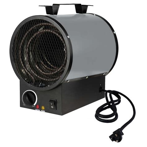 king 240 volt 4000 watt portable shop heater in gray