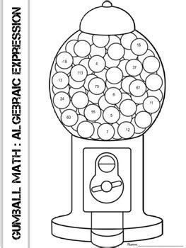 gumball math coloring page gumball math coloring pages