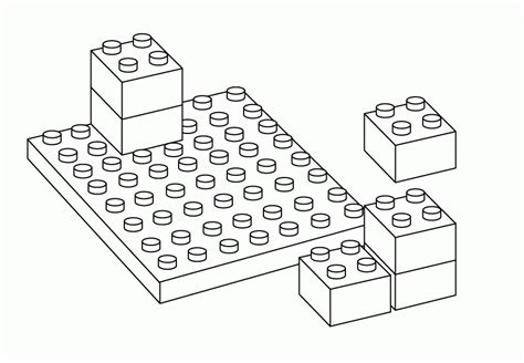 Lego Block Coloring Pages Many Interesting Cliparts