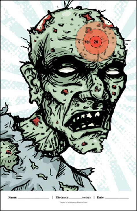 printable shooting targets zombie zombie targets liquidgreggy