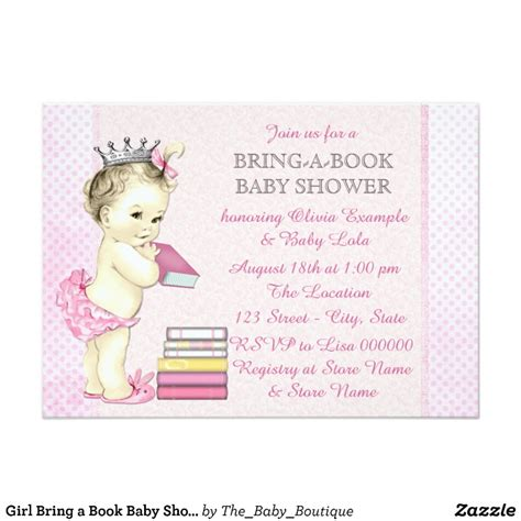 How To An Baby Shower by Bring A Book Baby Shower Card Zazzle