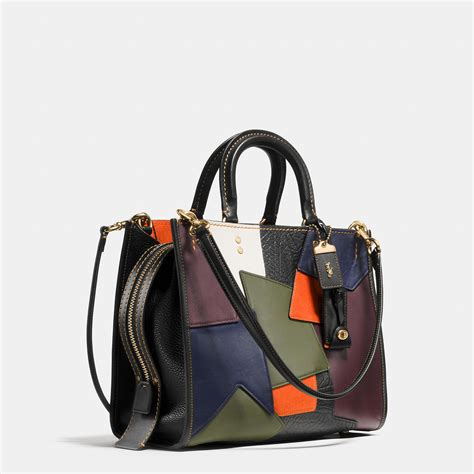 Leather Patchwork Bag - coach rogue bag in patchwork leather lyst