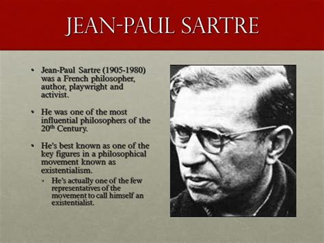 sartre philosophy in an sartre from existentialism is a humanism ppt video online download