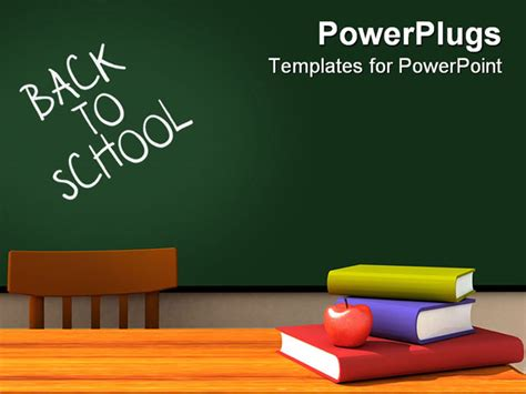 powerpoint templates for teachers 3d render of the inside of a classroom with back to school