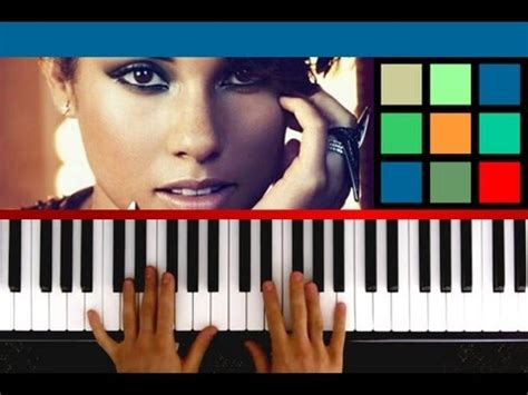 tutorial piano alicia keys how to play quot girl on fire quot piano tutorial sheet music