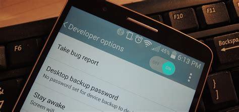 enable  hidden developer options usb debugging