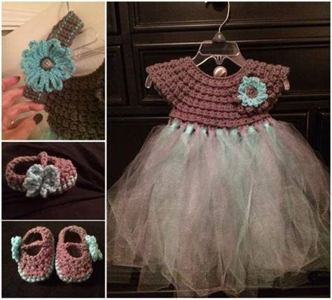 Dres Murah Fuschia Tutu Set With Hair Pin crochet top tutu dress set on storenvy